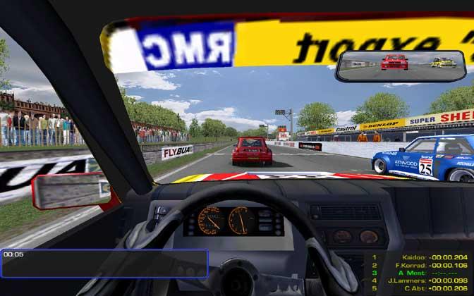 Simulation automobile sur Court Circuit Team - rFactor